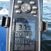 Garmin GPSmap 78s på tur. Batteri næsten brugt op!