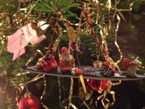 Julemand i kajak
