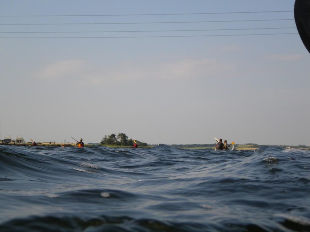 Bølger ud fra Skuldelev