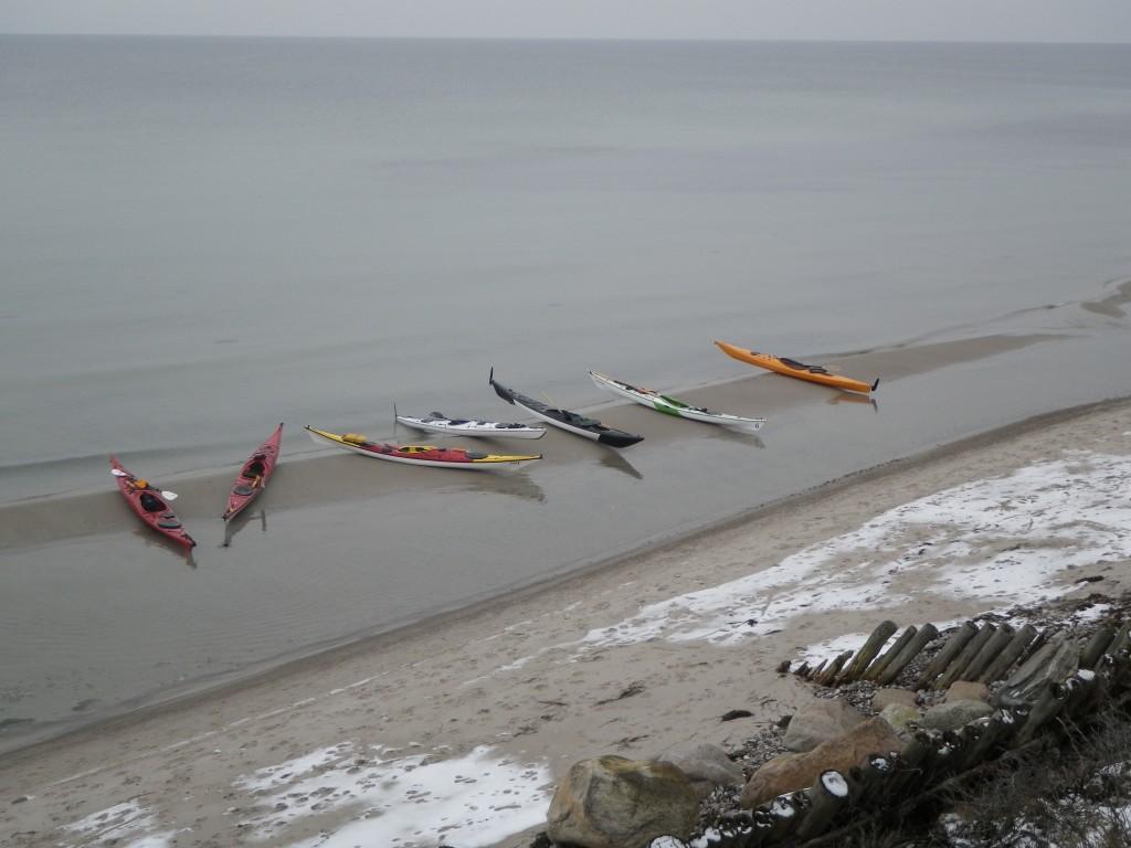 Kajakker på stranden